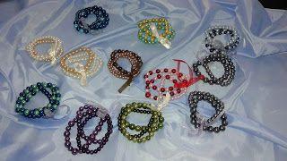 Ręcznie robiona biżuteria.  Handmade jewelry. Bransoletka ze szklanych perełek.