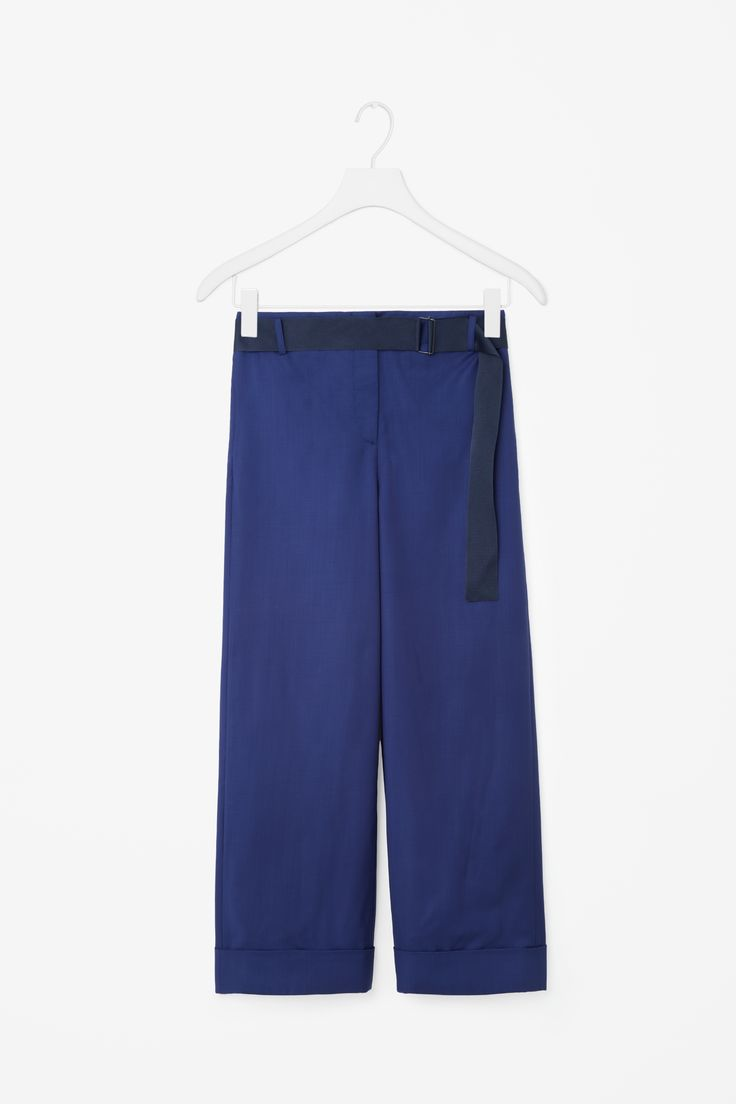 COS   Trousers with belt detail