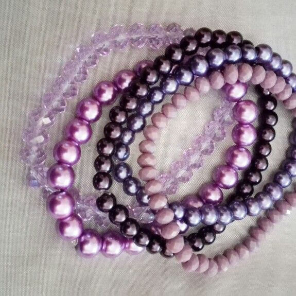 Shades of purple bracelet set