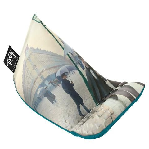 The Paris Street; Rainy Day Wedge is a beanbag for your phone! Part phone stand, part screen cleaner, the Wedge is the (fun)ctional tech accessory you need.
