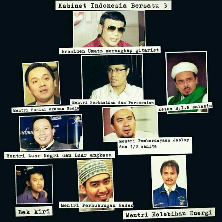 Kabinet Indonesia absurd, mungkin? :))