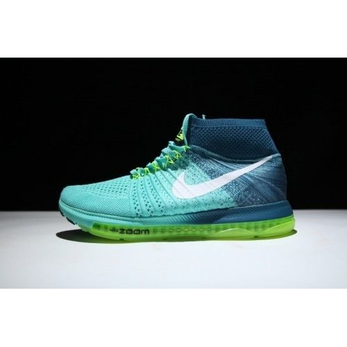 Best Nike Air Zoom All Out Flyknit Mens Running Shoe Blue Green