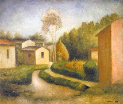 ". Carlo Carrà ""Autunno in Toscana"""