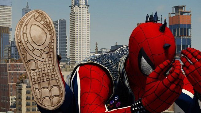 Marvel S Spider Man Every Sneaker Sole From Every Suit In The Game Spiderman Marvel Spiderman Marvel
