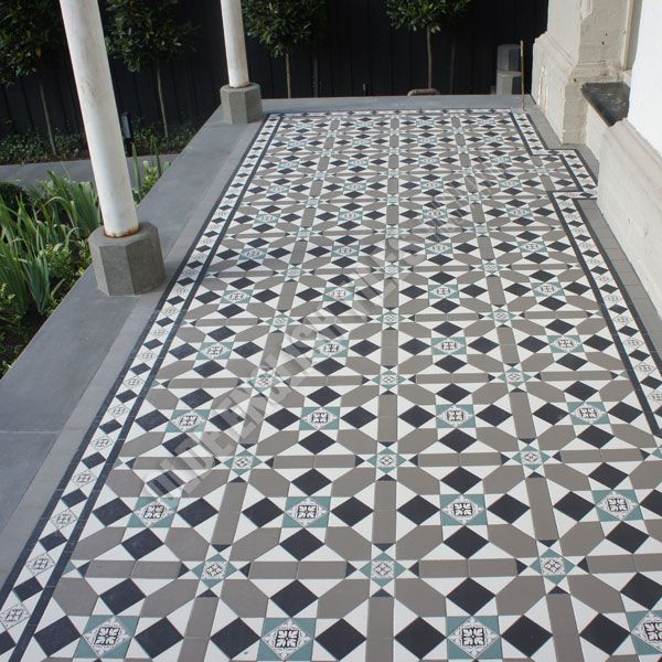 Old English Geometric Patterns, a design element that can be carried from inside to outside.