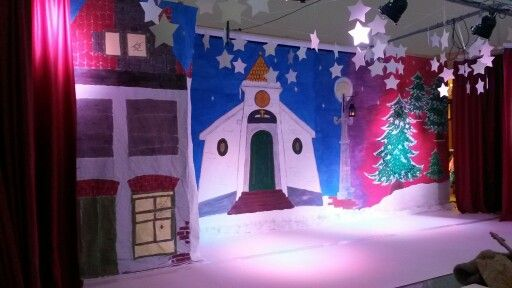 Decor kerstmusical 'De kleine boom'