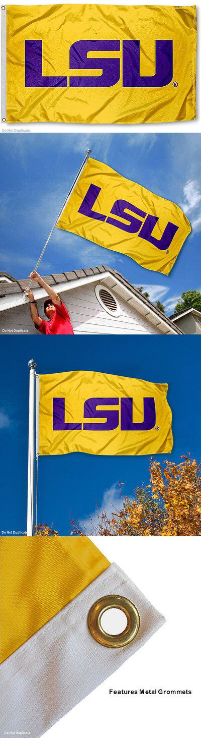 Flags 43533: Louisiana State University Tigers Flag Lsu Gold Large 3X5 -> BUY IT NOW ONLY: $32.95 on eBay!