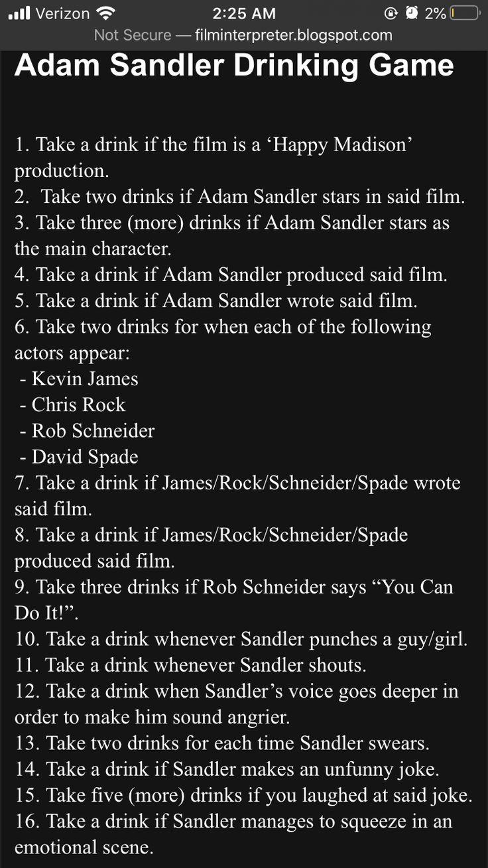 Film trinkspiele Zombieland Drinking