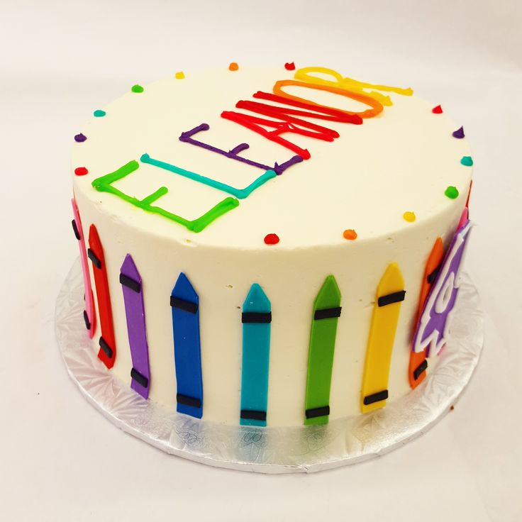 A crayon cake. Perfect for a budding artist!