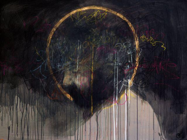 "Scott Erickson, A Man Of Sorrow   acrylic on panel   36""x48"""