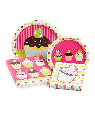 Sweet Treats 16-Guest Party Tableware Set #zulily #zulilyfinds
