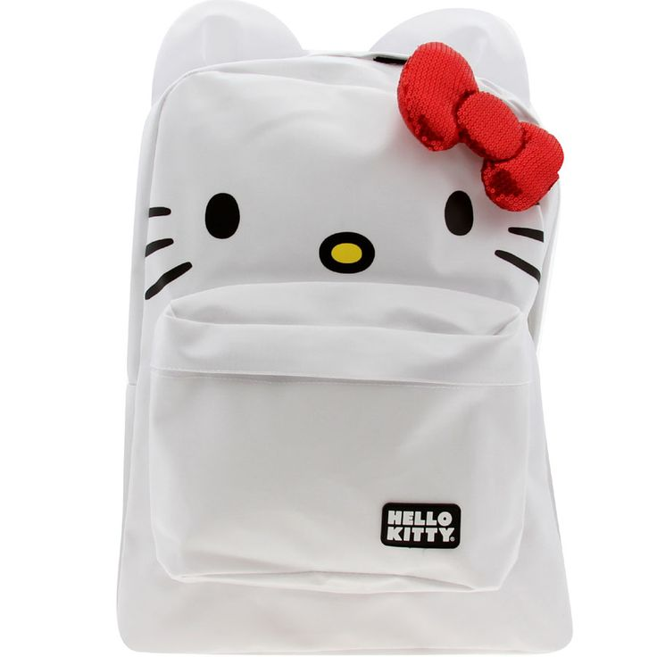 Hello Kitty Red Bow Backpack (white)