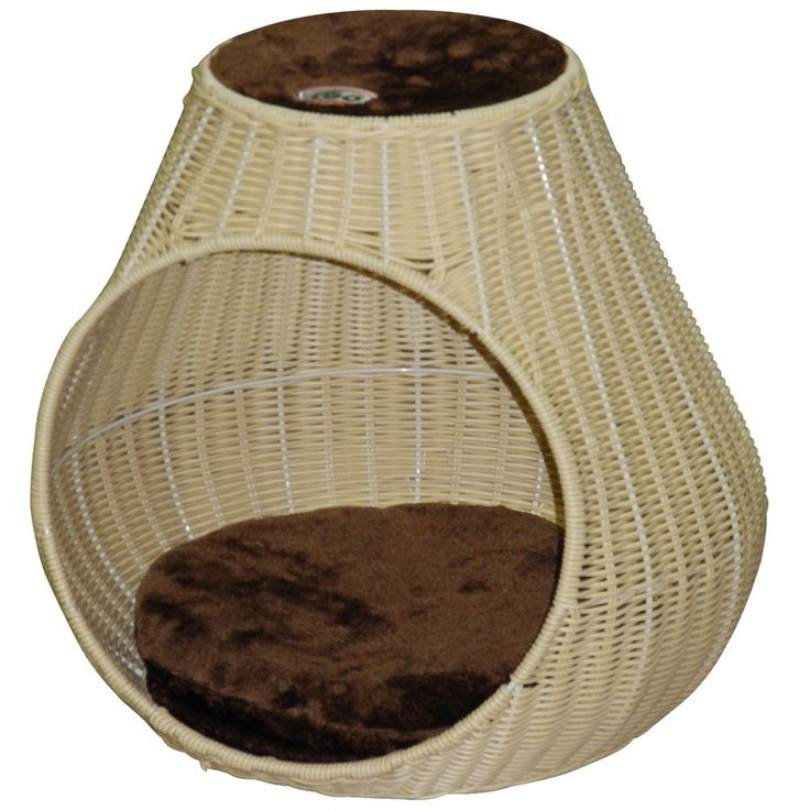 Features:  -Material: 100% Hand craft PE rattan wicker and wood.  -Free standing.  -Modern style.  -Odor Resistant: No.  -Removable Cover: No.  -Multiple Cats: No.  Product Type: -Hooded / Dome.  Colo