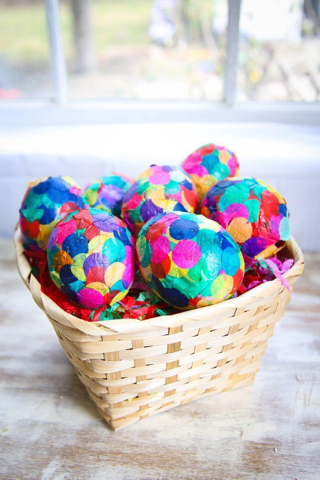 DIY Paper Mache Confetti Eggs