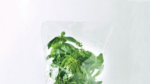 Here's our solution for keeping basil perky for more than a few meals.