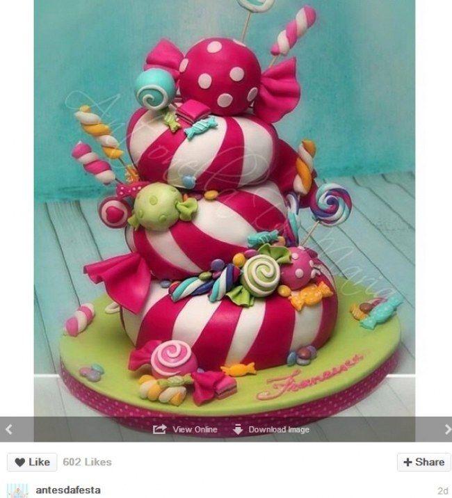 A la croisé de Alice au Pays des merveilles et de Charlie et la chocolaterie. Le gâteau bonbons.
