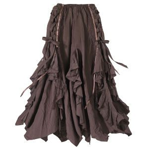 I love this skirt. Brown is one of my favorite colors, but mostly I love the shape and the ties :) #have #plussize #bbw