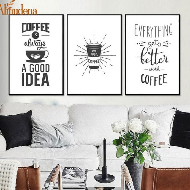 2 99 Minimalist Kitchen Coffee Decorative Pictures On Canvas With No Frame Nordic Decoration Home Kitchen Ro White Canvas Art Room Wall Painting Cafe Wall Art