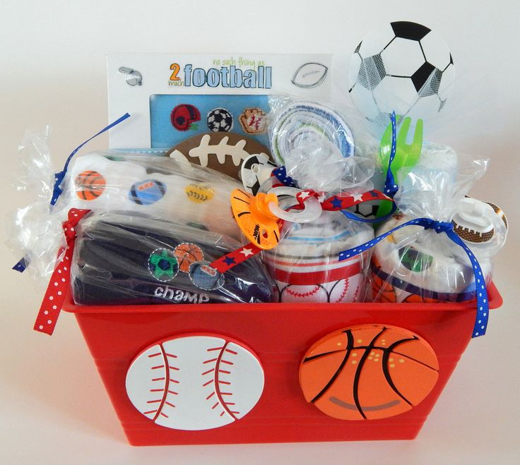 48 best baby gift baskets images on pinterest baby boy gift sports mom dad baby boy shower theme gift basket premium plus negle Image collections