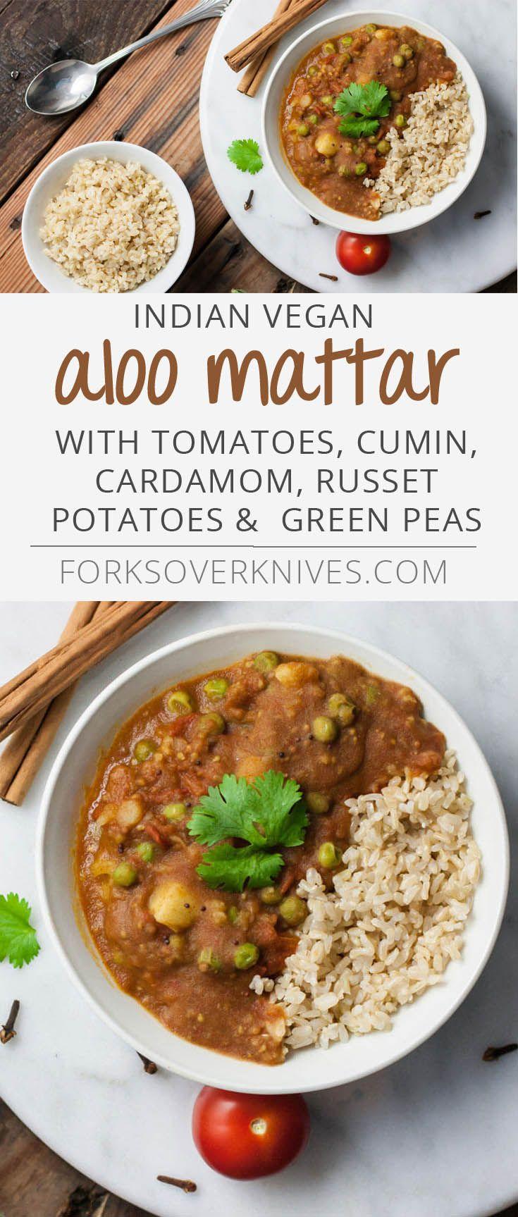 Aloo Mattar - Plant-Based Vegan Recipe (maybe substitute sweet potatoes and quinoa)