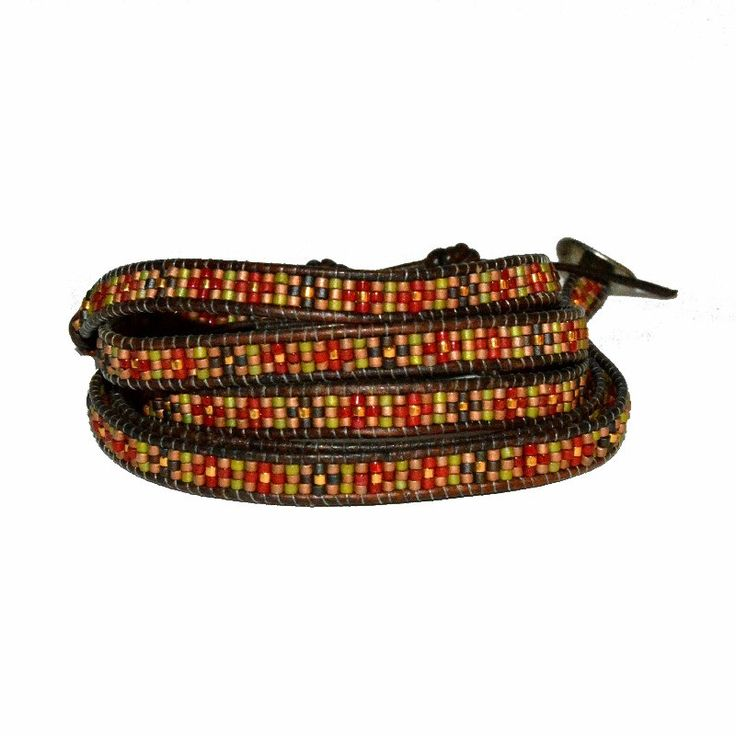 Seed Bead Red Mix Wrap Bracelet by Chan Luu