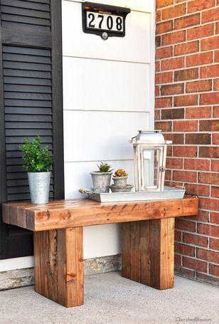 DIY Woodworking Ideas Outdoor Bench