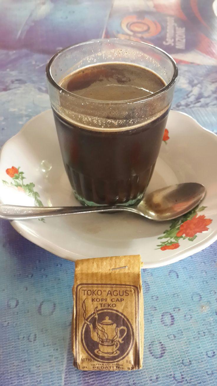 Toko Agus. Kopi cap Teko. Bogor. West Java. Koffie