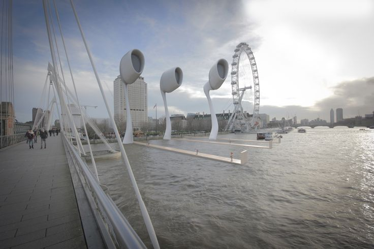 The Southbank Pods is an ongoing conceptual project exploring the creation of a new landmark attraction for the banks of the river thames. The 250ft structures would be a series of kinetic viewing platforms large enough to host small events, press and media facilities as well as restaurant and viewing spaces.