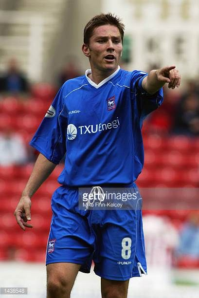 Matt Holland of Ipswich Town during the Nationwide League Divison One match between Stoke City and Ipswich Town at the Britannia Stadium Stoke in...