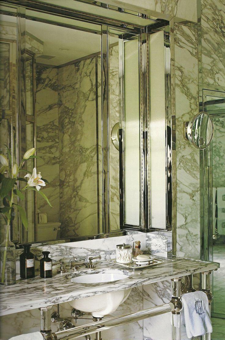 Brown marble bathroom miles redd - Miles Redd S Bathroom Sink Removed From A David Adler House Redd Found In Salvage Yard