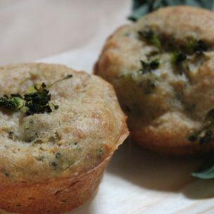 Matmuffins med skinke og brokkoli (jeg brukte kylling )