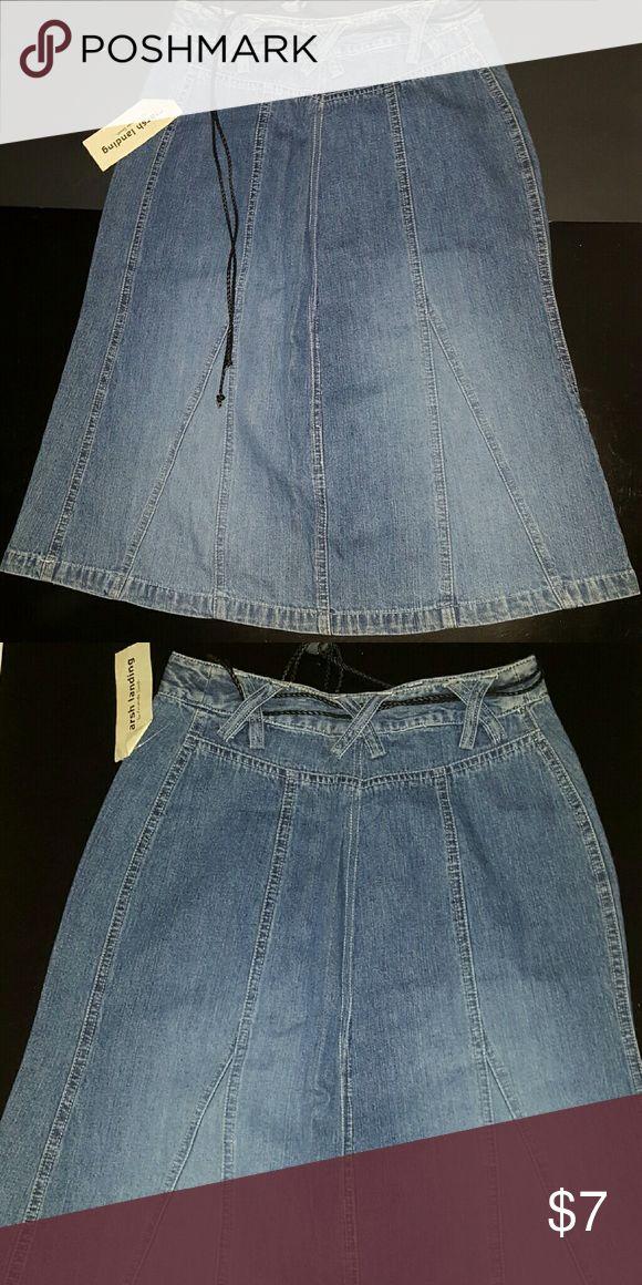 NWT Marsh Landing Jean (Skirt mid calf) 8 Brand new conservative Jean skirt. Absolutely new with tags. Marsh Landing  Skirts Midi
