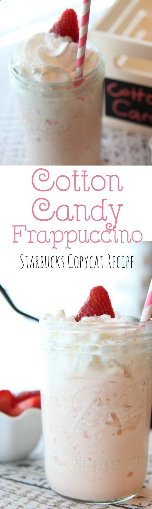 The Cotton Candy Frappuccino from the secret Starbucks menu is easy to make at home. It is just as delicious at a fraction of the price.