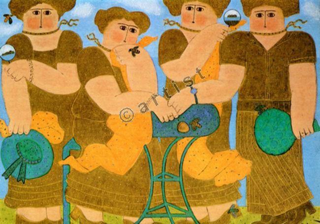 Φαίδων Πατρικαλάκις, Χωρίς τίτλο, 1980, λάδι σε μουσαμά