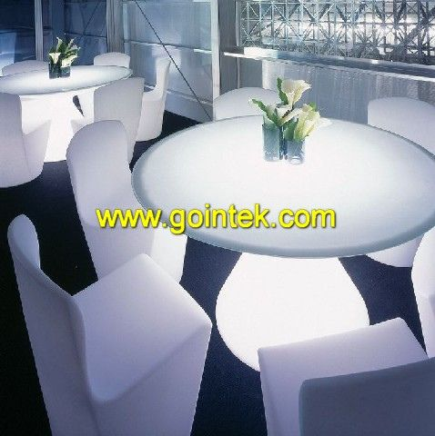 Beautiful Round Color Changing LED Table For Bar Furniture,please Contact  Us If You Want