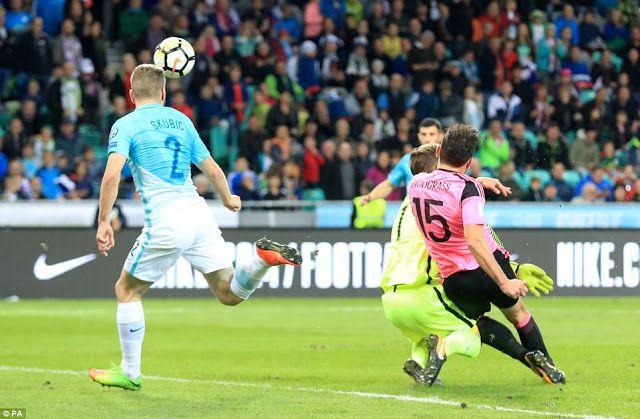 bet,sports gossip,highlights,PAOK: Slovenia 2-2 Scotland highlights
