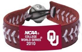 Oklahoma Sooners Bracelet - 2010 College World Series Team Color