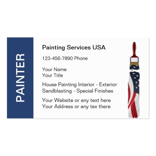 199 best images about painter business cards on pinterest for Painter business card template