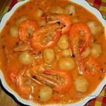 recette dangoué de crevettes au lait de coco ( plat guyanaise)