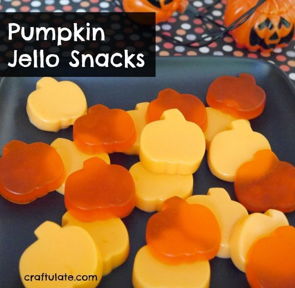 These pumpkin jello snacks are easy to make and fun for parties!