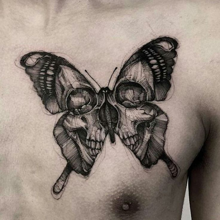Butterfly skull tattoo                                                                                                                                                                                 More