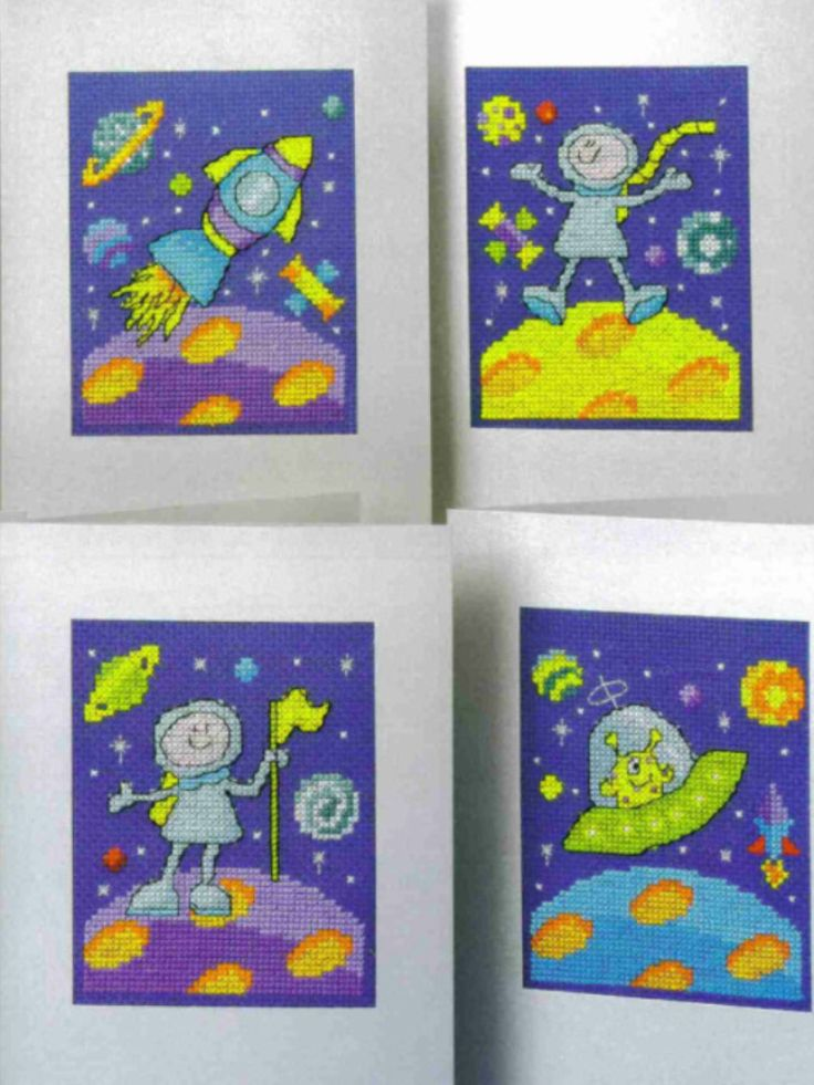 Outer Space 2/2 Cross Stitch Card Shop Issue 54 May/June 2007 Saved