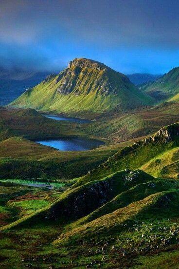 The Quiraing Walk on the Isle of Skye, Scotland.