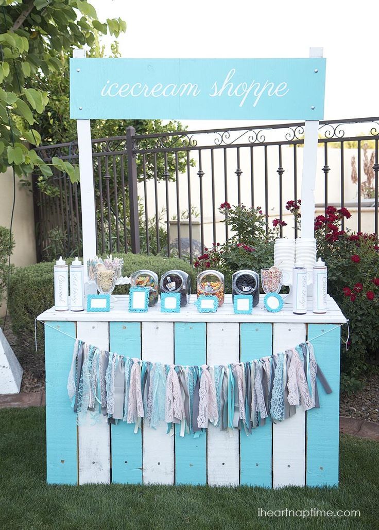 DIY ice cream stand I Heart Nap Time | I Heart Nap Time - How to Crafts, Tutorials, DIY, Homemaker