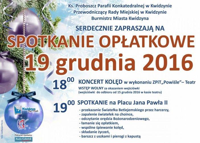 [19.12.2016] Spotkanie opłatkowe – Kwidzyńskie Centrum Kultury