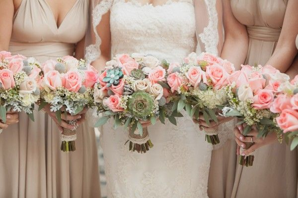 Romantic Pastel Wedding: Bridesmaids
