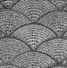 Shell Counterpane fro 1860s |  Knitted motifs in a shell shape for making bedspreads