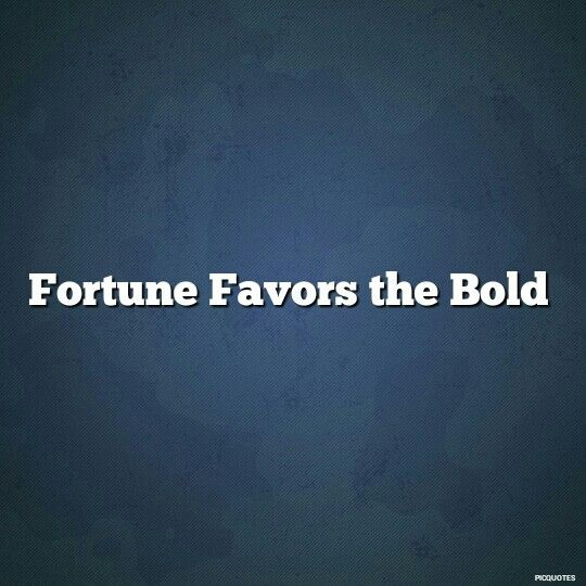 Essay on fortune favors the brave