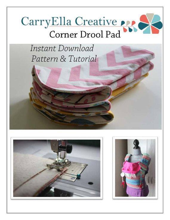 Corner Drool Pad Pattern & Tutorial INSTANT by CarryEllaCreative