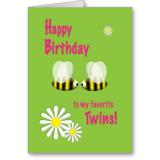 1182 best Happy Birthday Greeting Cards images – Twin Birthday Cards